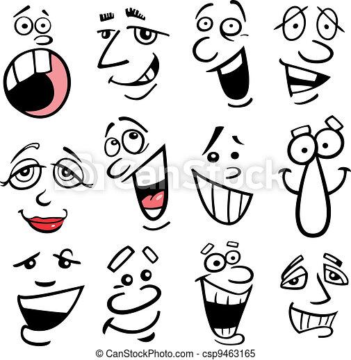 Cartoon emotions illustration - csp9463165