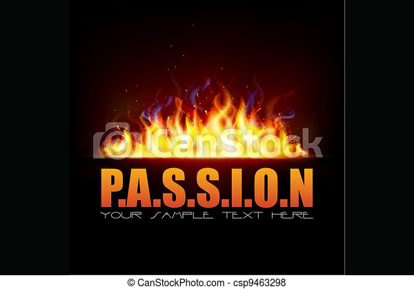 Fire Flame showing Passion - csp9463298