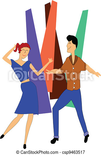 teens dancing - csp9463517