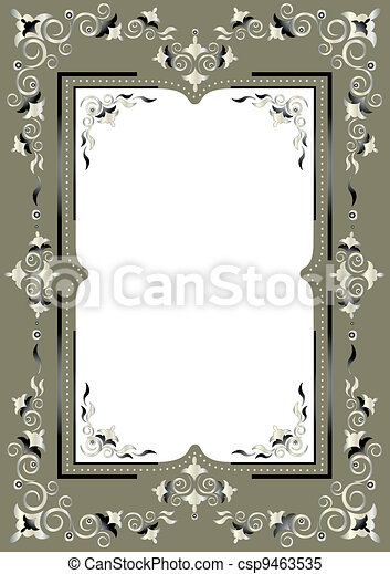 Frame with Eastern decor - csp9463535