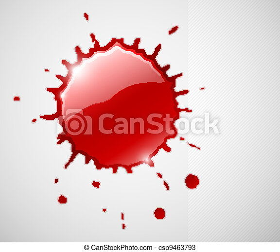 red ink blob splash - csp9463793