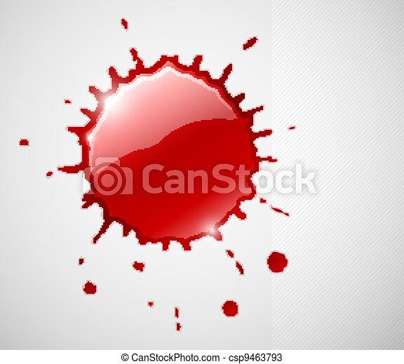 red ink blob splash - csp9463793