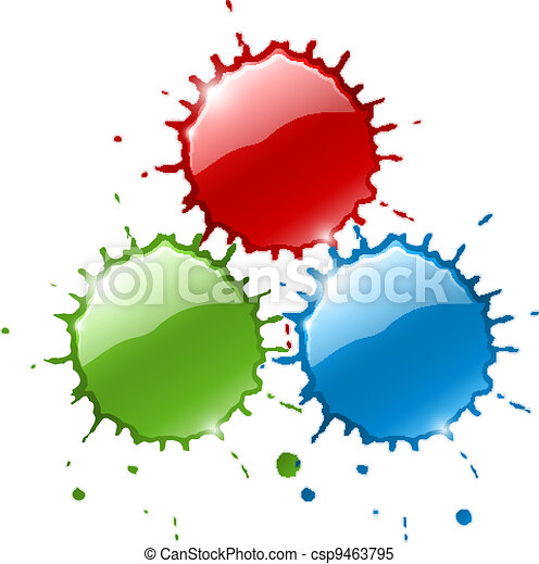red ink blob splashes - csp9463795