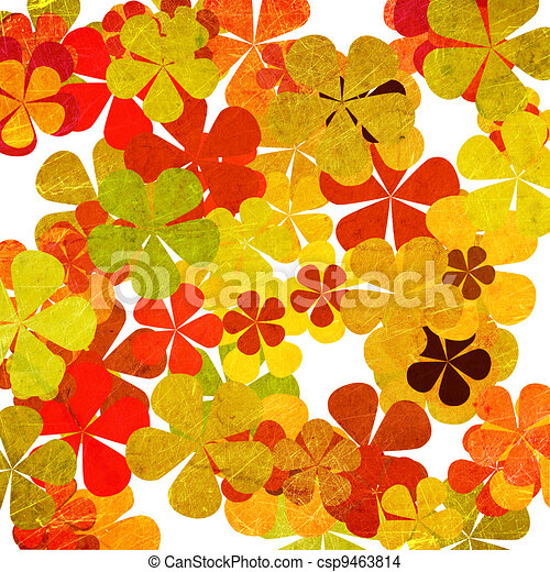 art grunge vintage floral background - csp9463814