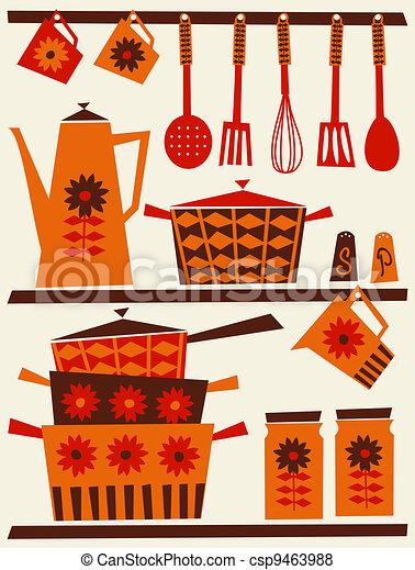 Retro Kitchen - csp9463988
