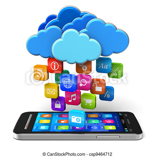 Cloud computing and mobility concept - csp9464712