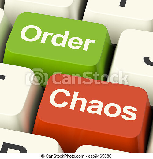 Order Or Chaos Keys Showing Either Organized Or Unorganized - csp9465086