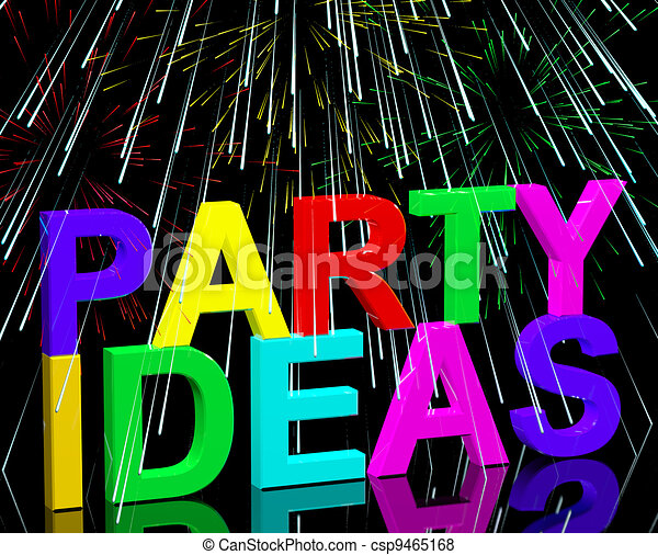 Party Ideas Words Shows Birthday Or Anniversary Celebration Suggestions - csp9465168