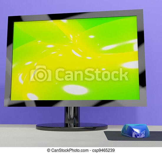 TV Monitor Representing High Definition Television Or HDTV - csp9465239