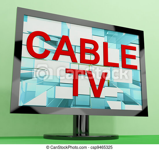 Cable Tv Showing Digital Media Television Entertainment - csp9465325
