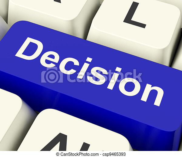 Decision Computer Key Represents Uncertainty And Making Decisions Online - csp9465393