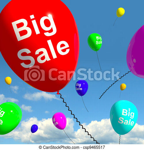 Big Sale Balloons In Sky Shows Promotions Discounts And Reductions - csp9465517
