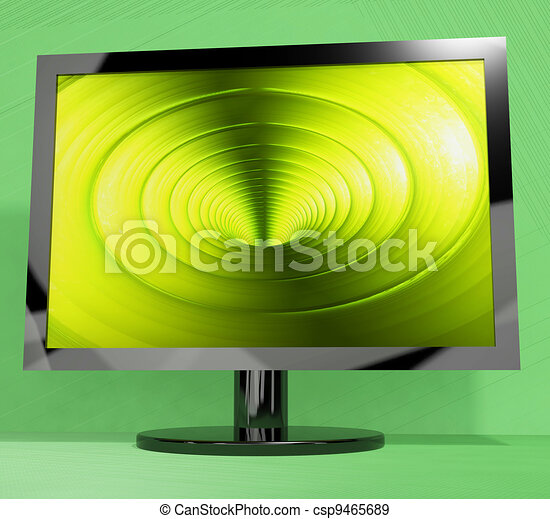 TV Monitor With Vortex Picture Representing High Definition Television Or HDTVs - csp9465689