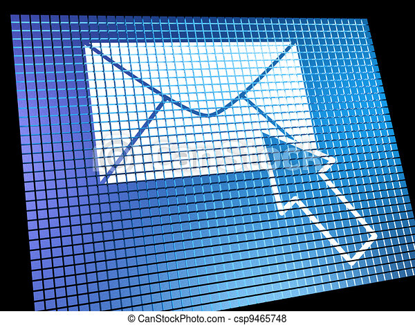 Email Icon Being Selected On Screen Showing Emailing Or Contacti - csp9465748