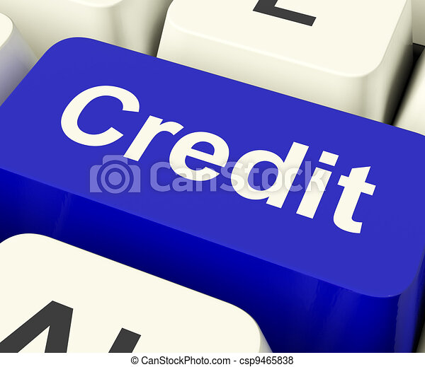 Credit Key Representing Finance Or Loan For Purchases - csp9465838