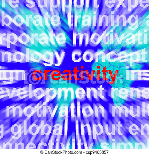 Creativity Word Representing Innovative Ideas And Imagination - csp9465857