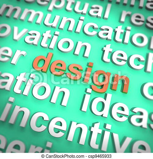 Design Word Meaning Creative Artwork Concept Creation - csp9465933