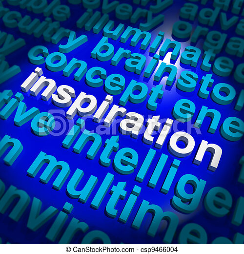 Inspiration Word Showing Positive Thinking And Encouragement - csp9466004