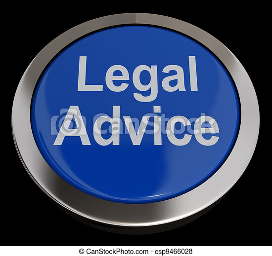 Legal Advice Button In Blue Showing Attorney Guidance - csp9466028