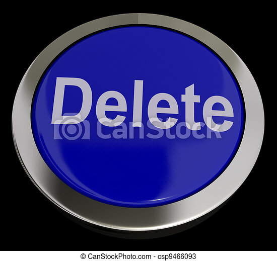 Delete Button In Blue To Erase Trash - csp9466093