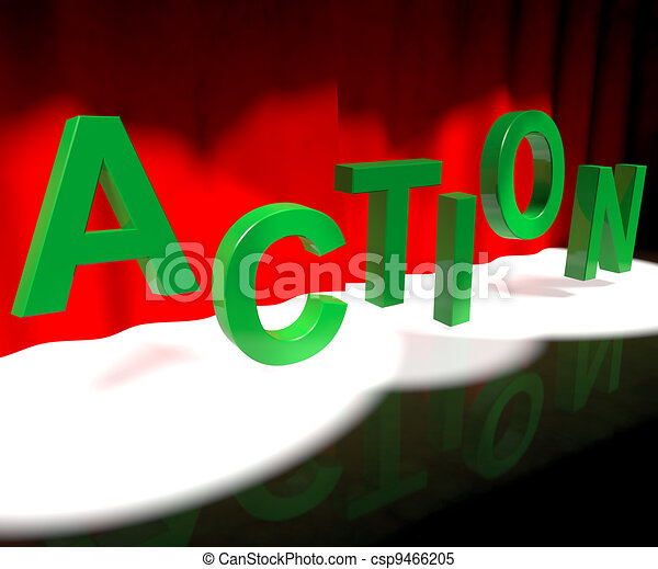 Action Letters Dancing Showing Activity And Motivation - csp9466205