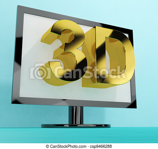 Three Dimensional Television Or 3D HD TVs - csp9466288