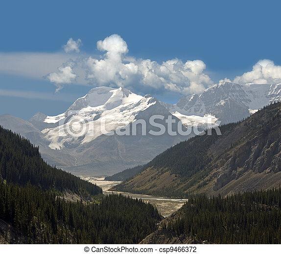 Sunwapta Pass, Canadian Rockies, Alberta - csp9466372