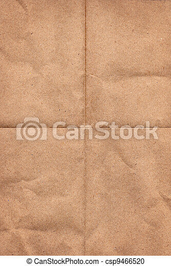 Crinkled grunge brown paper - csp9466520