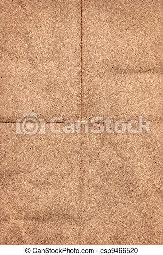 Crinkled grunge brown paper - csp9466520