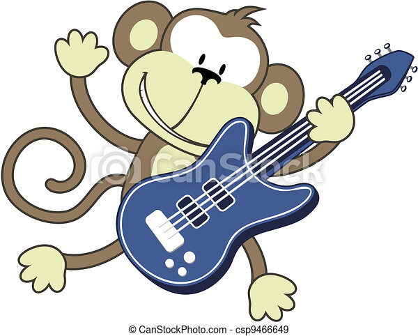 rock star monkey - csp9466649