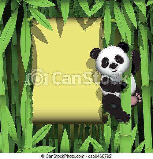 Panda in the jungle - csp9466792