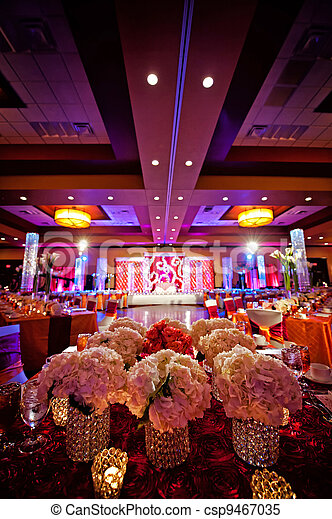 Decorated Ballroom for Indian Wedding - csp9467035