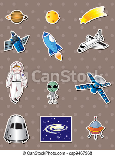 space stickers - csp9467368