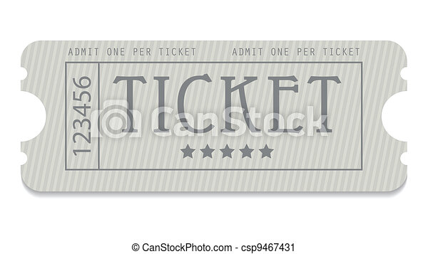 old entrance ticket with special design - csp9467431