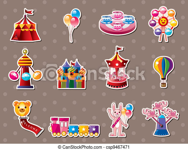 cartoon Playground stickers - csp9467471