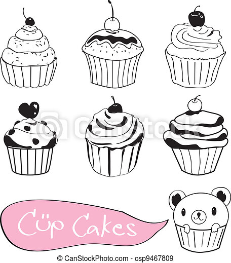 how to draw a emoji cup cacke