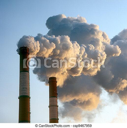 Smokestacks. - csp9467959
