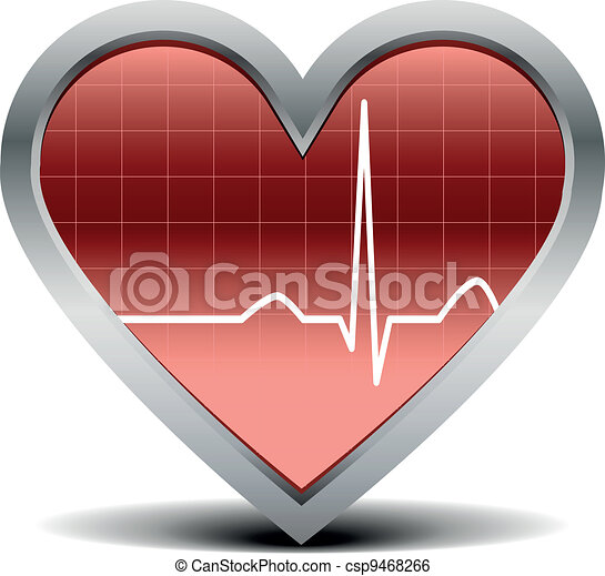 heart beat signal - csp9468266