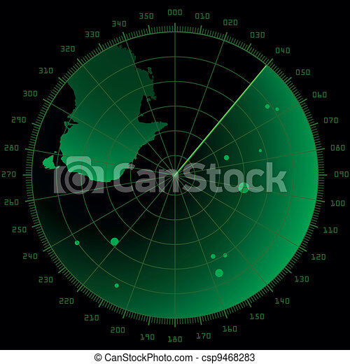 radar screen with targets - csp9468283