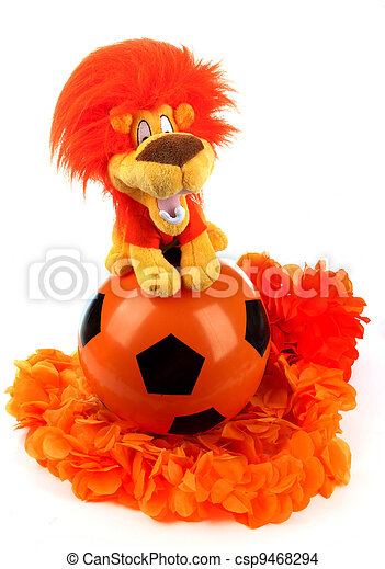 Football madness of Holland - csp9468294