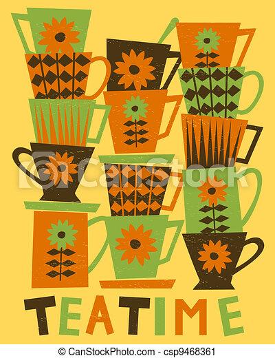 Teatime Card - csp9468361