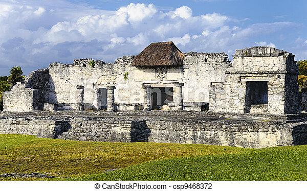 Mayan ruins of Tulum Mexico - csp9468372