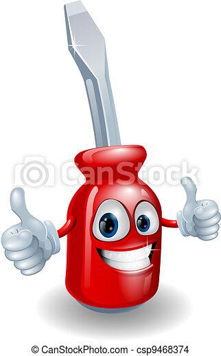 Screwdriver mascot character - csp9468374