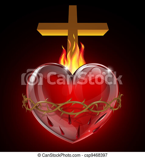 Illustration of the Sacred Heart - csp9468397