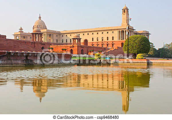 Indian Government buildings built o - csp9468480