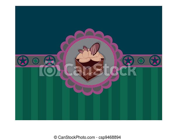 Charming Pattern With cake - csp9468894