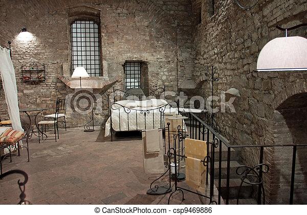 image de perugia moyen ge vue chambre coucher vue de a csp9469886 recherchez des. Black Bedroom Furniture Sets. Home Design Ideas