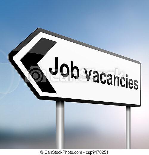 Job vacancies concept. - csp9470251