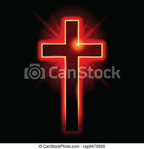 Christian symbol of the crucifix     - csp9470930