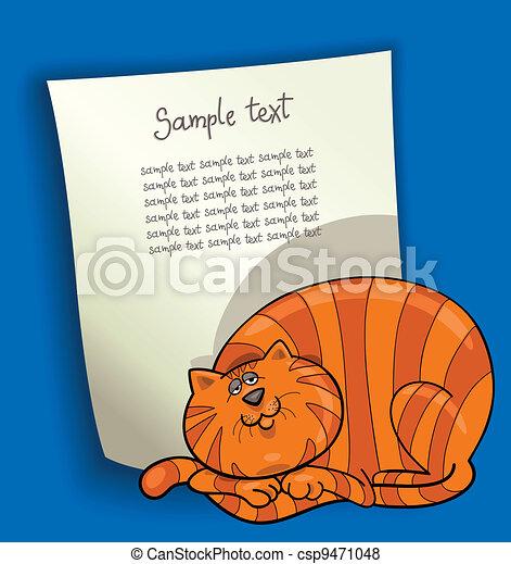 cartoon design with fat red cat - csp9471048